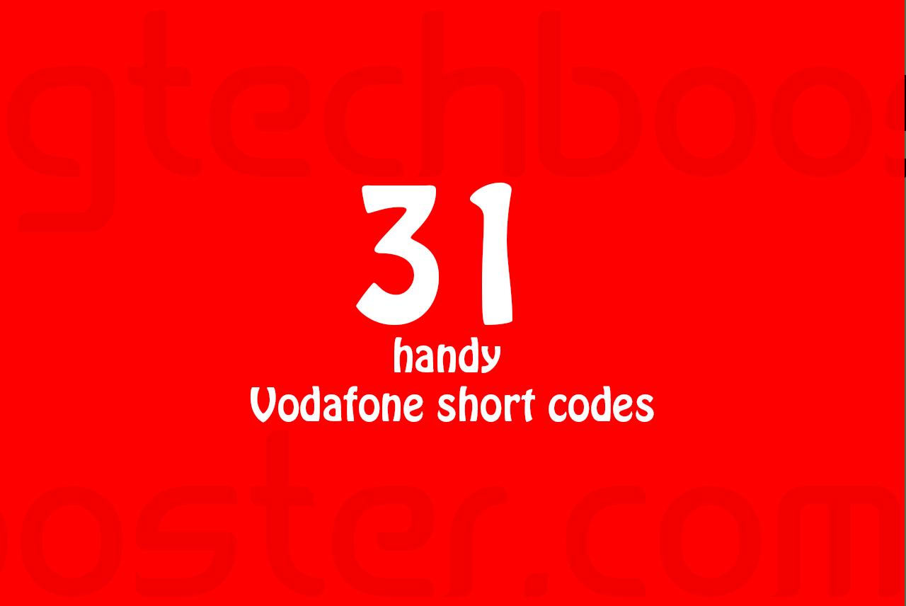 31 Handy Vodafone short codes
