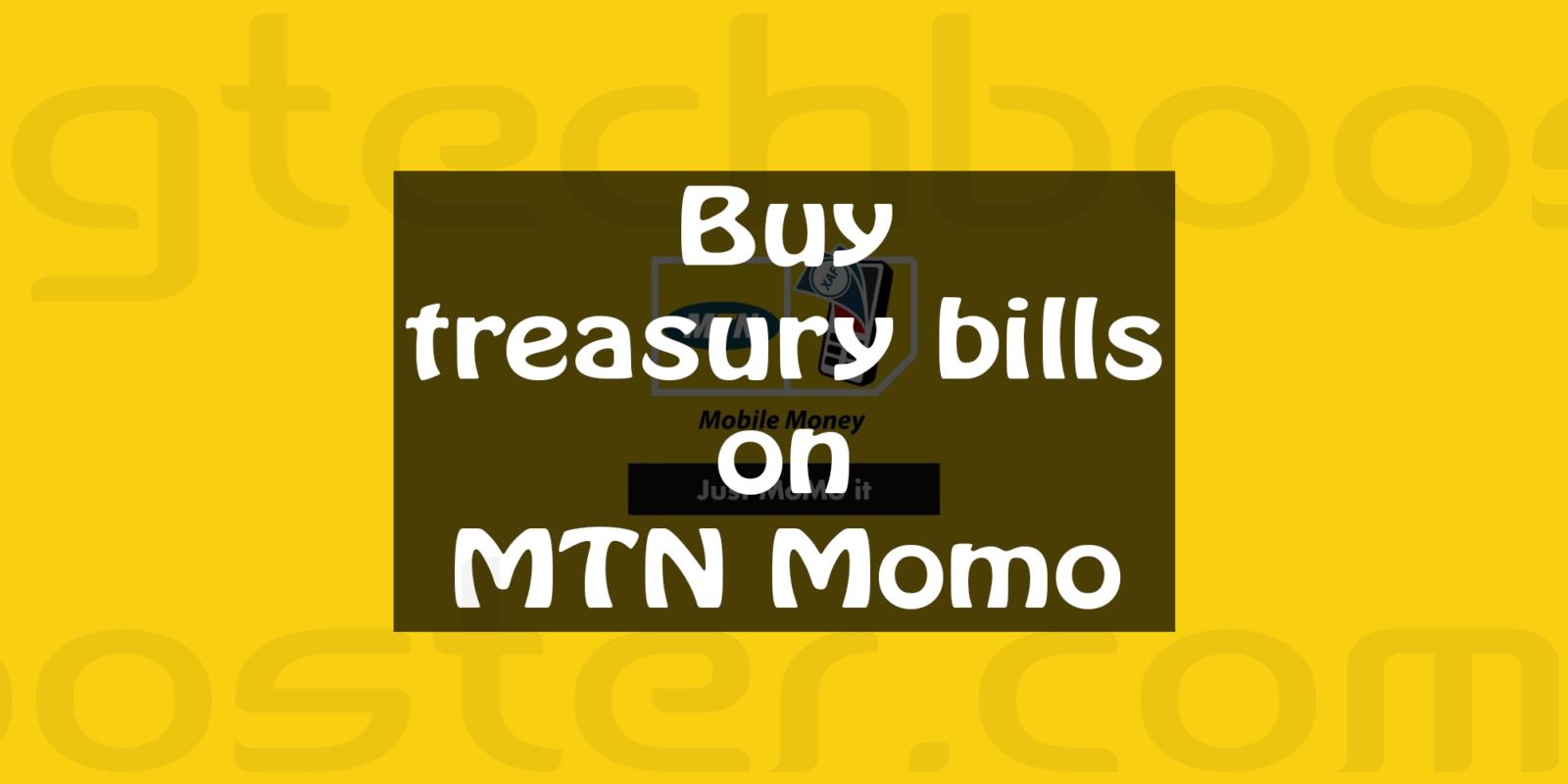 Buy treasury bills on Momo